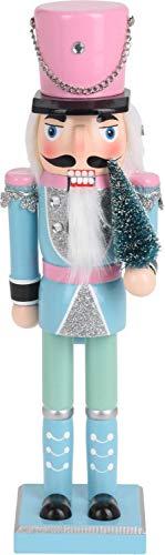 ZauberDeko Nussknacker Deko Figur Soldat Weihnachtsdeko Pastell Advent Weihnachten Adventsdeko, Modell:Hut Rosa