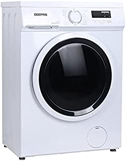 Geepas GWMF68005LCU Front Loading Washing Machine - Stainless Steel Tank with 6kg Capacity | 15 Programs | 2050W with 1000...