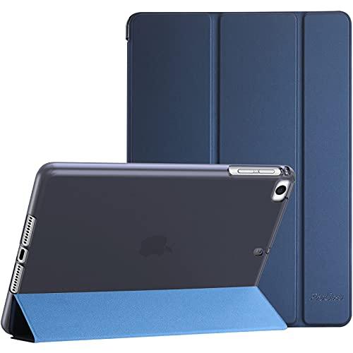 ProCase iPad Mini Case for iPad Mini 5 2019   Mini 4, Mini 1 2 3, Slim Soft TPU Translucent Back Cover Trifold Stand Folio Smart Case for iPad Mini 5th Generation 2019, iPad Mini 4 3 2 1 -Navy