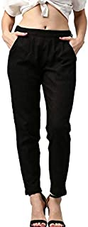Pink City Souvenirs Cotton Flex Black Casual Women Pant/Palazzo/Palazzo Pant/Trouser/Slim Fit Pant/Pencil Pants