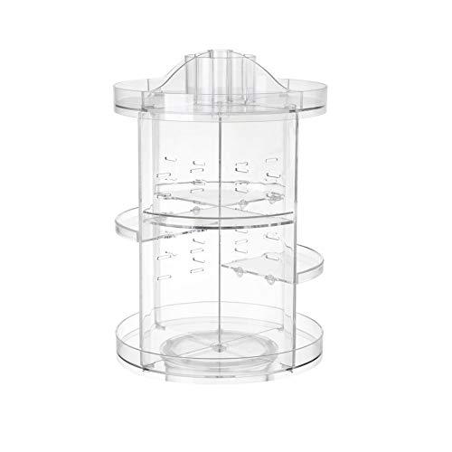 Glenmore Organizador Giratorio de Maquillaje Cosméticos de 360 Grados de Rotación Gran Capacidad Transparentes B2351