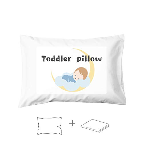 EXQ Home Toddler Pillow with Pillowcase 13quotx18quot Baby Pillows for Sleeping Machine Washable Kids Pillow for Toddlers Kids Infant 1 Pillow1 Pillowcase