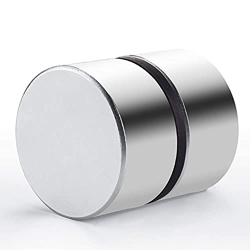 40x20mm Super Strong Neodymium Disc Magnet, Powerful Magnet Disc Permanent Rare Earth Magnets for Science Project Building Fridge Craft and Office (Two Pieces)