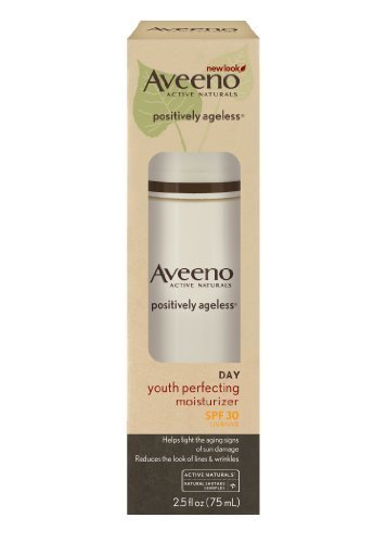 Aveeno Active Naturals Positively Ageless Youth Perfecting Moisturizer, SPF 30, 2.5 Ounce by Aveeno BEAUTY (English Manual)