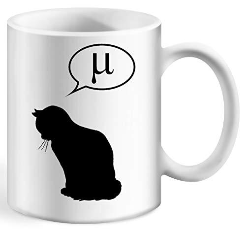 Physik Katze Und Reibung Koeffizient Kaffeebecher Weiß Tassen Becher White Ceramic Cup Mug