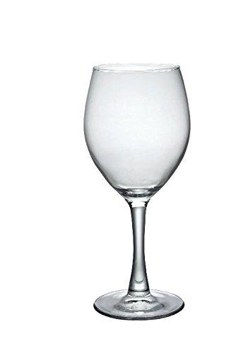 12x Vasos de vino, copas de vino rojo, vidrio templado, transparente, 34cl, diámetro 8.3cm, altura: 18.8cm