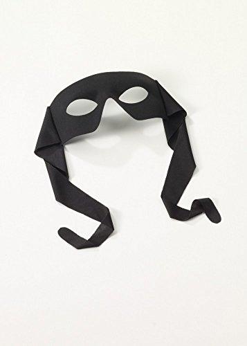 shoperama Accessoires für Superhero Herren Kostüm, Maske Schwarz