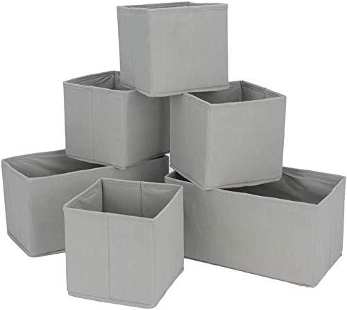 Caja de almacenamiento plegable de 6 piezas 30x16x16cm Armario de caja de cubo de lona de 16x16x16cm