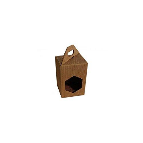Apistore Scatola Astuccio in Cartone per Vaso Miele da 1 kg (Marrone) - Conf. da 5 Pezzi