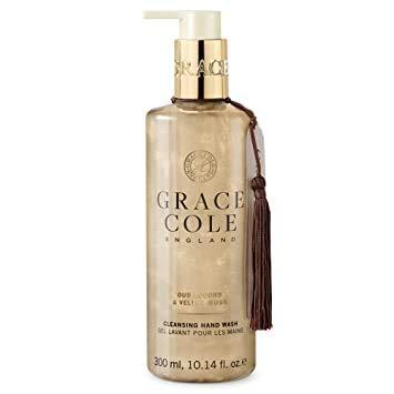 Grace Cole – Nettoyage des mains 300 ml, cordon de serrage Oud & velvet Musk