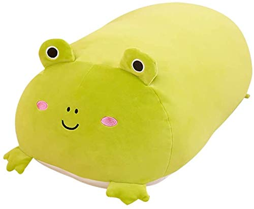 hwljxn Tierpuppe Kissen, schönes Schwein oder Frosch Puppe Spielzeug, Flauschige gefüllte Kissen Kuschelspielzeug Geschenk für Kinder Erwachsene (Color : A)
