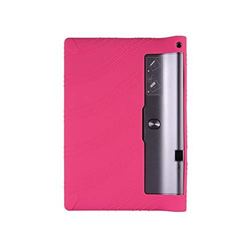 QiuKui Tab Funda para Lenovo Yoga Tab 3 Pro 10.1, Funda de Stand de Silicona para niños para Lenovo Yoga Tab 3 Pro 10.1 x90l x90f x90m (Color : Rose Red)