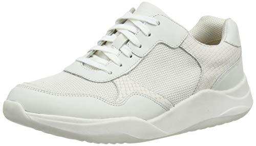 Clarks Sift Lace, Zapatillas Mujer, Blanco (White Combi White Combi), 41 EU