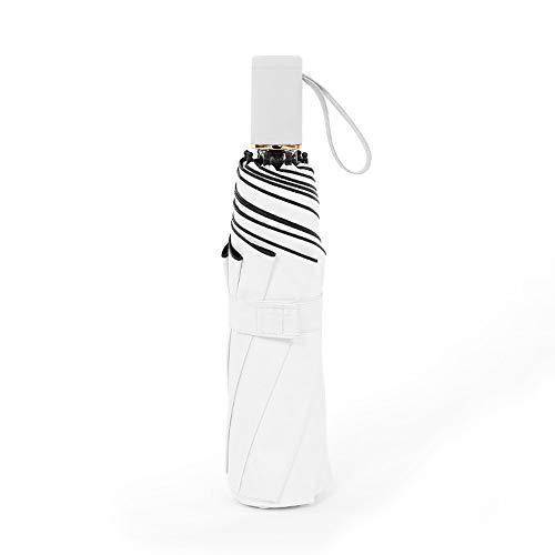ZHQHYQHHX Faltbarer Regenschirm Leichtgewichtig Langlebig Acht Knochen Wasserabweisend Tragbar Bequemer Faltschirm Sowohl sonniger als auch sonniger UV-Schnitt Origami-Regenschirm Regenschirm ZHQHYQHH