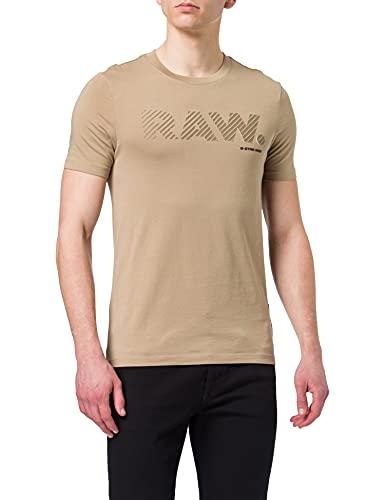 G-STAR RAW Mens 3D RAW. Logo Slim T-Shirt, lt Rock 336-3000, M