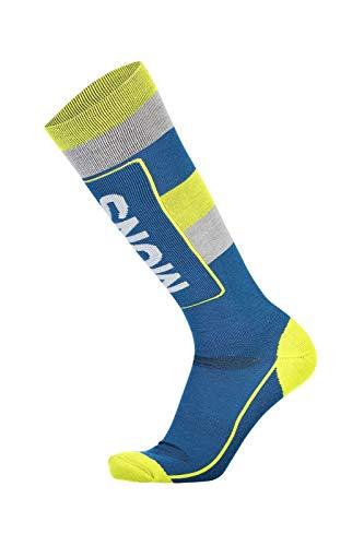 Mons Royale Mons Tech Cushion Sock, Oily Blue/Grey/Citrus, L