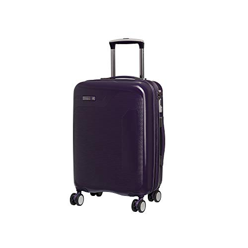 it luggage Signature 8-Wheel Hardside Expandable, Black Cordial - Purple, Carry-On 21-Inch