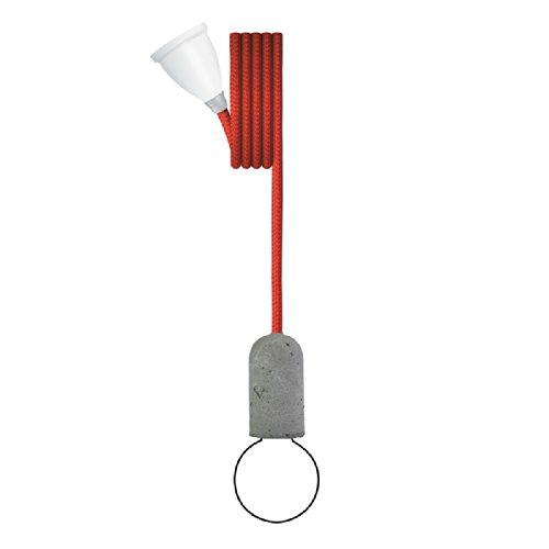 NUD Base - Kabel mit Betonfassung - Rococco Red - Rot - 3M