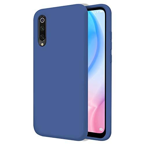 TBOC Funda para Xiaomi Mi 9 SE [5.97 Pulgadas]- Carcasa Rígida [Azul] Silicona Líquida Premium [Tacto Suave] Forro Interior Microfibra [Protege la Cámara] Antideslizante Resistente Suciedad