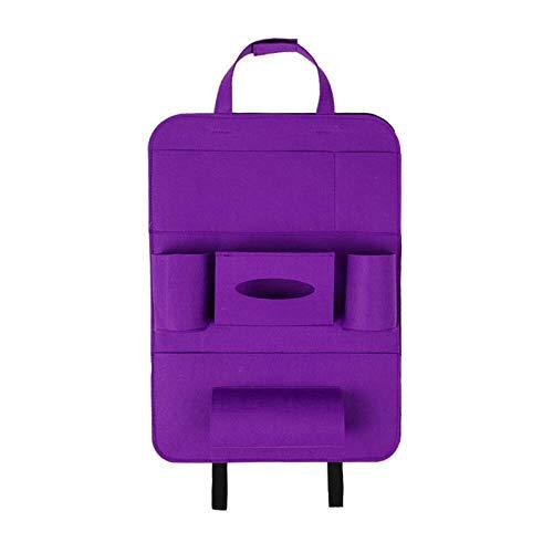 Sac de rangement pour siège auto sac suspendu dossier chaise fauteuil de rangement arrière-Pourpre