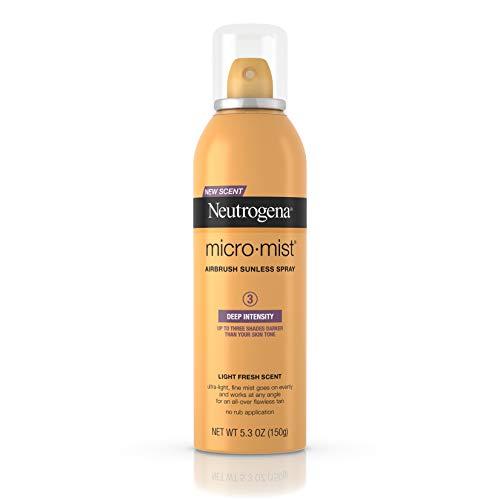 Neutrogena Spray bronzant sans soleil MicroMist - Brumisation ultra-légère et ultra fine - Bronzage foncé - 150 g