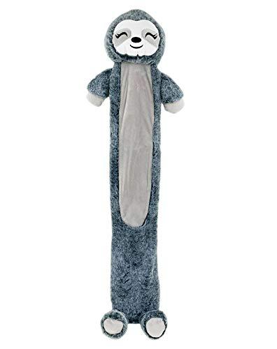 STC Stores Wärmflasche, lang, verschiedene Designs, Faultier, Zebra, Pinguin, Grau Faultier – 87 cm lang