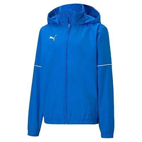 PUMA Jungen teamGOAL Rain Jacket Core Jr Trainingsjacke, Electric Blue Lemonade/White, 128