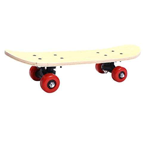 Abaodam Handbemaltes Skateboard, doppelseitig, blanko, kein Druck, DIY-Skateboard für Kinder, Spielzeug, Geschenk (43 cm, blanko, handgemaltes Skateboard + individuelles Paket)