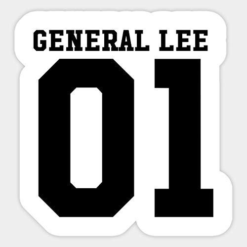 General Lee - Sticker Graphic - Car Vinyl Sticker Decal Bumper Sticker for Auto Cars Trucks