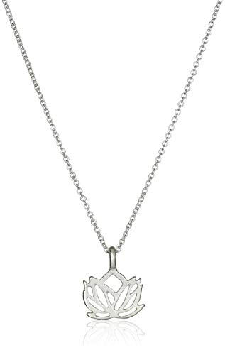 Dogeared 'Reminders New Beginnings Rising Lotus Pendant Necklace 16' W/2'