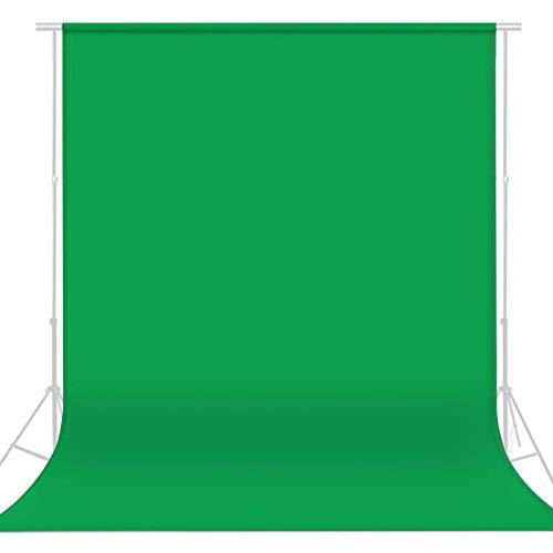 1.5 x 2.1m Fondo Verde para Estudio fotográfico,Verde Soporte de Fondo,Portrait Video Fondo Verde,Paños de Fotografía Telón,Fondo Muselina,Fondo para Estudio Fotográfico de Color Sólido