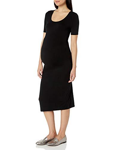 Amazon Essentials Maternity Short-Sleeve Dress, Negro, L