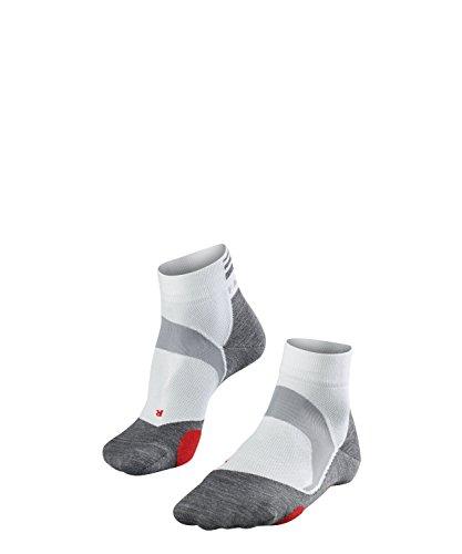 FALKE Bikesocken BC5 Baumwolle für Damen und Herren weiß viele weitere Farben dünne Sportsocken mit mittelstarker Polsterung kurz zum Sport Radfahren, 1 er Pack, Weiß (White 2020), Größe: 42-43