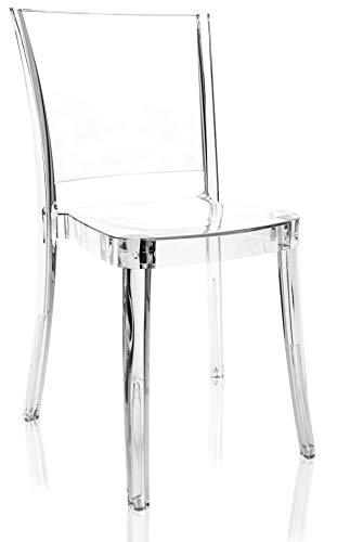 Lucienne Chaise transparente polycarbonate neutre - 10L2000