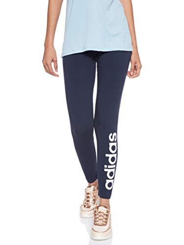 adidas Essentials Linear Regular, Leggings Donna, Legink/White, S