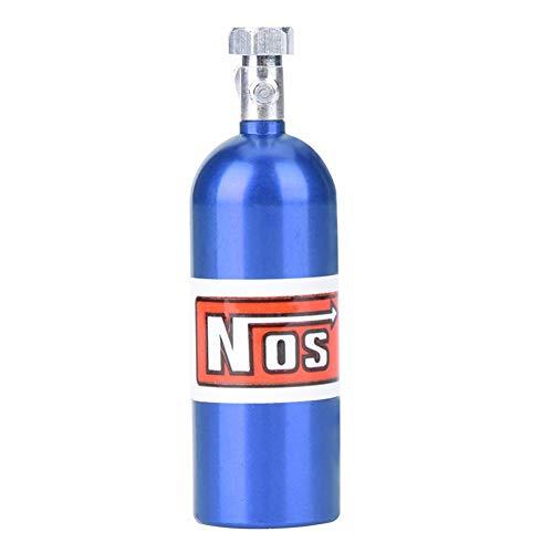 Woyisisi RC Car Lachgas Flasche, Mini NOS Lachgas Flasche Kanister f¨¹r 1/10 Traxxas RC Rock Crawler Axial Car Dekoration(FZ0008NB Blau)