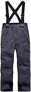 Kids Clothing Candy Color Winter Warm Breathable Waterproof Windproof Snowboard Kids Pant, Size: 158-164(Green) Boys Clothing (Color : Grey)