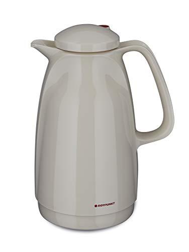 Shiny Amethyst BPA Frei- gesundes Trinken Made in Germany   Doppelwandige Vakuumisolierung Zweifunktions-Drehverschluss ROTPUNKT Isolierkanne 911 1,0 l Kalthaltung Warm Glaseinsatz
