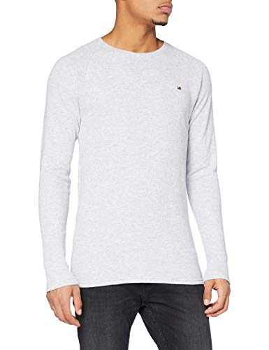 Tommy Hilfiger LS Thermal Camicia, Ice Heather, SM Uomo