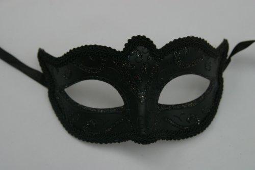Mascara Veneciana de Carnaval, Negro Medianoche