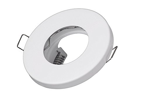 Bad Einbaustrahler IP65 Weiss-Matt für LED und Halogen Leuchtmittel 230Volt GU10 Fassung inklusive (Wasserdicht) | Sauna, Badezimmer, Dusche, Keller, Vordach uvm