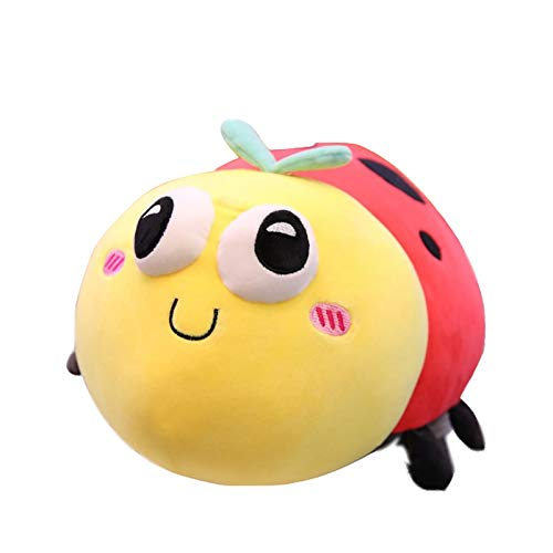 QQFENG Cartoon Seven-Star Ladybug Plush Toy Beetle Soft And Comfortable Pillow 40cm (0.45Kg)
