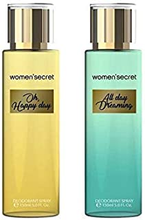 Women's secret Oh Happy Day and All Day Dreaming Body Mist for Women- Pack of 2