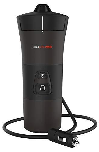 Handpresso 48264 ręczny ekspres do kawy samochodowej 12 V (zapalniczka samochodowa) czarny - przenośny ekspres do kawy Senseo Pads