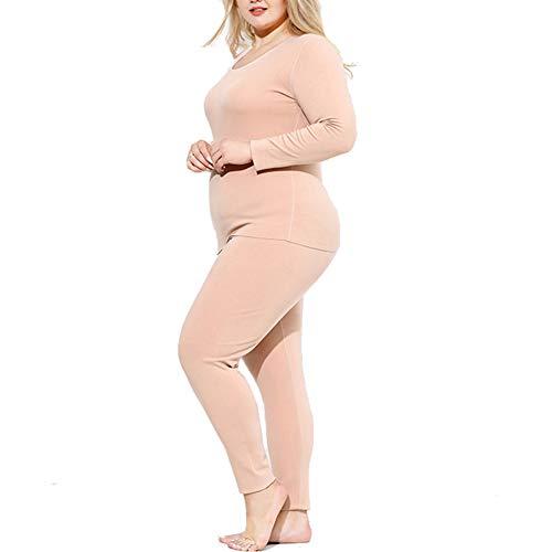 KKCD-underwear dames grote maat thermo-ondergoed, vrouwen winter top & Bottom Base Layer Plus-fluweel verdikking ondergoed voor koud weer