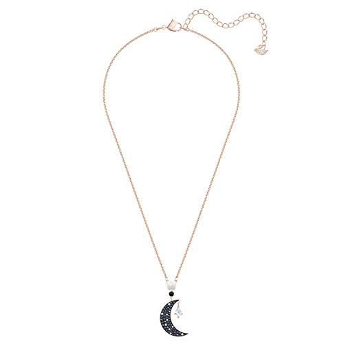 Swarovski Symbolic Moon Necklace, Finely Cut Stones, Rose-gold Tone Plated Chain, from the Swarovski Symbolic Collection