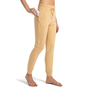 Women's Sweatpants with Zipper Pockets Cotton Pants Joggers for Women Running, Jogging, Lounge