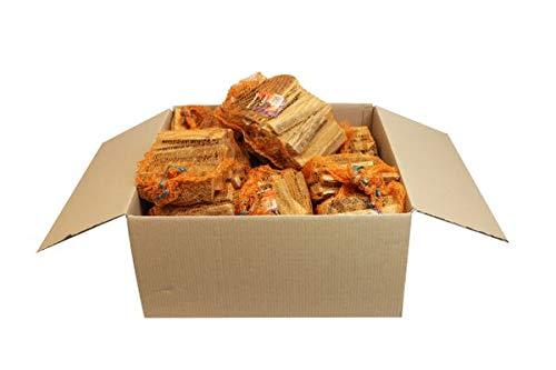 Anfeuerholz im 5,0 dm³ Netz 9 Stk. - eignet sich ideal zum Anfeuern von Holzbriketts oder Brennholz in Ihrem Kamin oder Ofen.