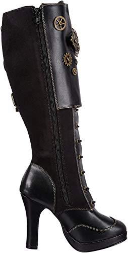 Demonia CRYPTO-302 Damen Stiefel, Schwarz (Blk Vegan Leather-Microfiber), EU 39 (UK 6) (US 9)