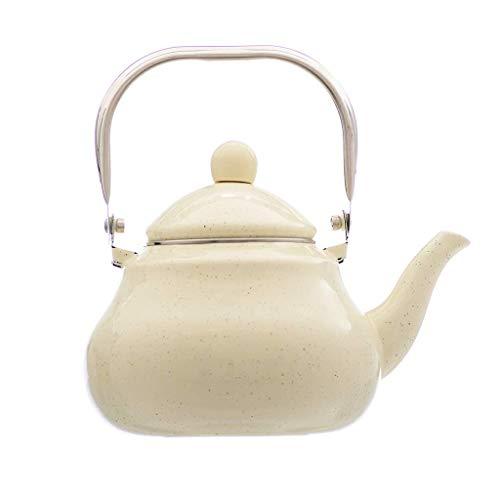 Wasserkessel 2,5 l emailliert Wasserkocher dick Haushalt Induktion Herd Gasherd Universal Teekanne